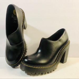 Dr Martens Cordelia Black Platform Ankle Boot